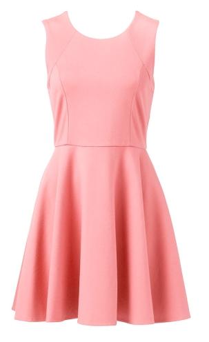 - Forever New Lunar Skater Dress in rosy peach ($79.99) -