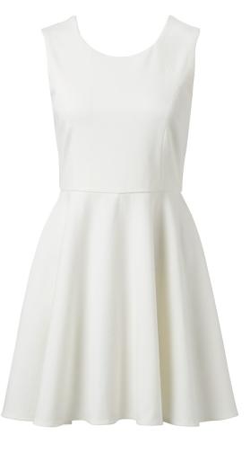 - Forever New Lunar Skater Dress in porcelain ($79.99) -