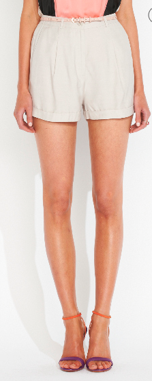 - Portmans High Wasted Shorts in taupe ($59.95) -