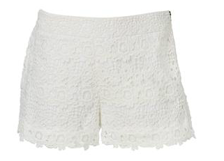 - Sportsgirl Lace Short in off white ($79.95) -