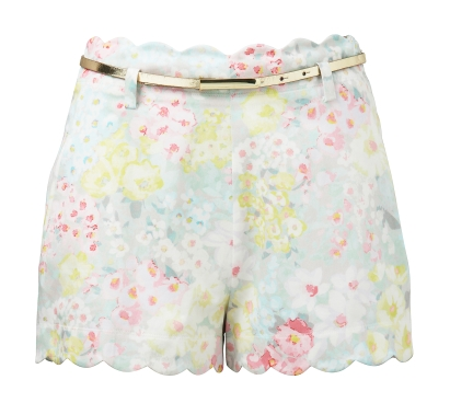 - Forever New Millie Scallop Hem Short in floral print ($49.95) -