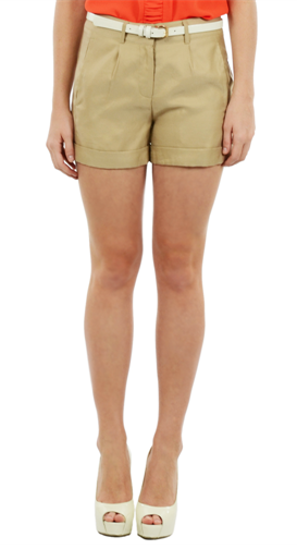 - Forcast Sierra Cuff Shorts in beige ($39.95) -