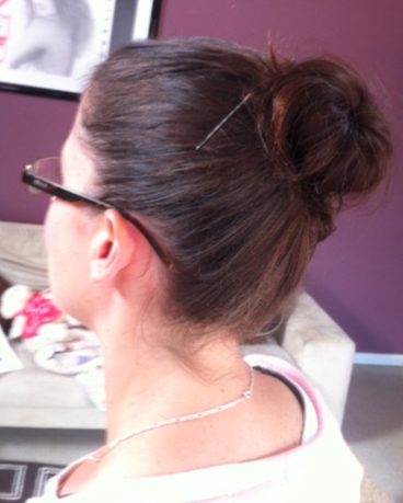 - Day 1: High Hair Donut Bun. Loved it and will do again -
