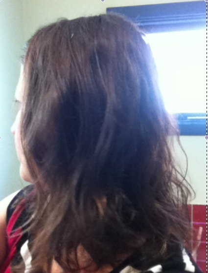 - Day 7: Blow dried and wavy with a side-pinned fringe. Liked this, but did tie it back half way through the day as it was HOT! -