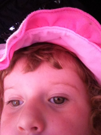 - This one is actually a self-portarait....Evie took it herself on the Iphone -