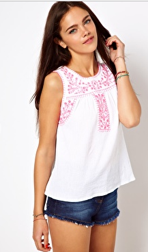 - ASOS River Island Cami with Embroidered Yoke in white ($36.24) -