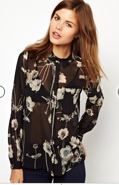 - ASOS Warehouse Trailing Floral Print Blouse in multi ($81.54) -