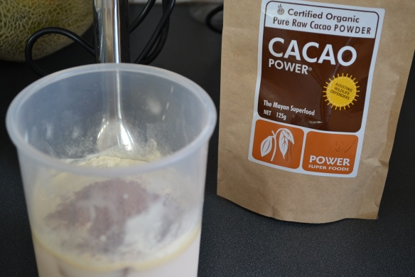 - Some days I omit the cacao…depends on whether I need a little choccy hit! -