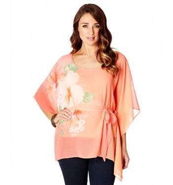 - Katies Coral Flower Print Kaftan $ 59.95) -