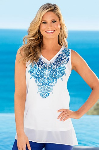 - Ezibuy Capture Placement Print Tunic in white $39.99 -