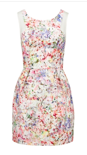 - Forever New Liana Printed Dress in Floral Print $129.99 -