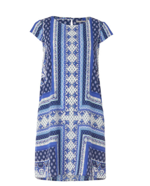 - Target Scarf print Shift Dress $49 -